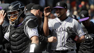 Marquez throws 1-hitter, Rockies shutout Giants 4-0 to avoid sweep