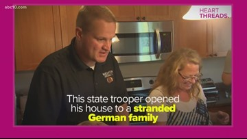 State trooper opens his home to travelers after they survive car crash