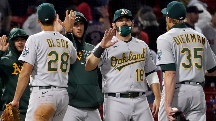 Chris Bassitt pitches Oakland A's past Boston Red Sox 3-2 at Fenway