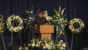 RAW: Davis Police Chief Darren Pytel speaks at Officer Natalie Corona's memorial service