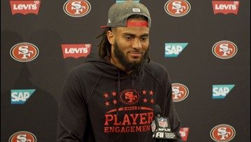 Super Bowl LIV Preview   San Francisco 49ers LB Fred Warner