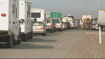 RAW: Traffic at a standstill as Camp Fire evacuations continue in Butte County