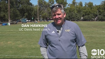 UC Davis football coach Dan Hawkins ready for Aggies home opener | FULL INTERVIEW
