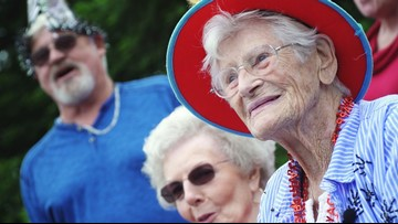 Spunky 100-year-old Roseville woman celebrates birthday with a marching band