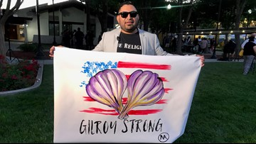 'We are Gilroy Strong!' | Tears, resilience flow at vigil for Garlic Festival shooting victims