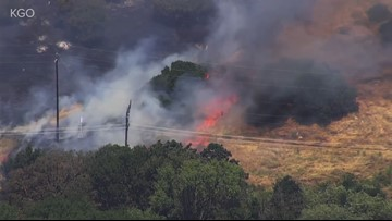 Fairfield grass fire forces evacuations | RAW