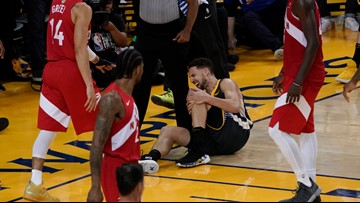 Warriors' Klay Thompson tears ACL in Game 6 loss to Raptors