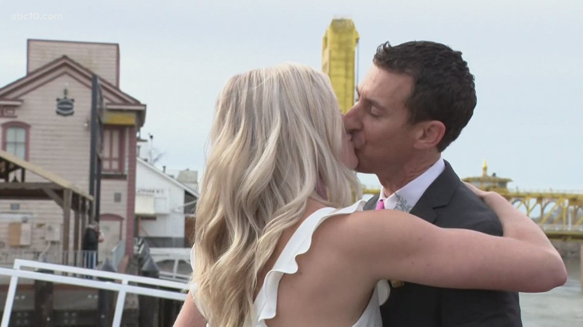 Couple gets married by Mark S. Allen on Valentine's Day