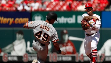 Cardinals rout Giants 10-0 to open 3-game NL Central lead