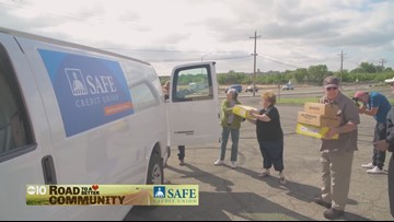 SAFE Credit Union provides shoes for veterans through Stand Down Organization