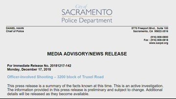 Deputies on administrative leave following deadly Natomas shooting