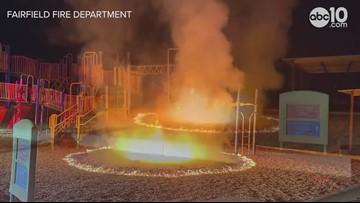 Fairfield arson torches playground at Cleo Gordon Elementary