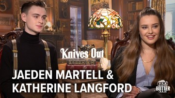 Knives Out: Katherine Langford & Jaeden Martell Interview   Extra Butter