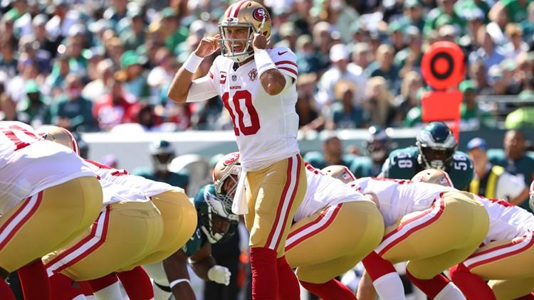 Jimmy Garoppolo, Nick Bosa lead 49ers past Eagles 17-11