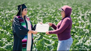 'This one's for you.' College grad dedicates education to immigrant mother