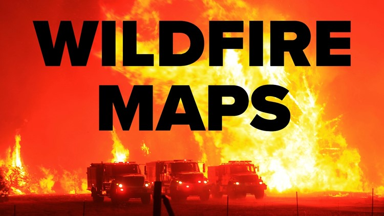 Where are wildfires burning in the Golden State?