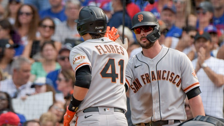 Flores homers, Giants beat Cubs 6-5 for 7th straight win