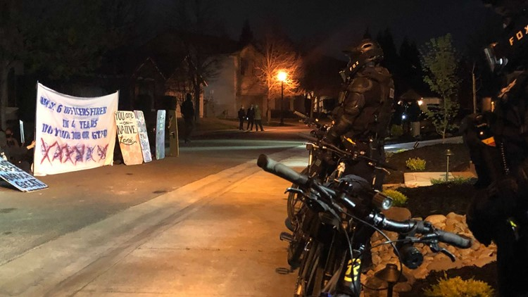 Protesters demonstrate outside Sacramento City Manager's home