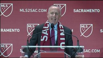 Mayor Darrell Steinberg says Sacramento is now a major league city in every way   RAW