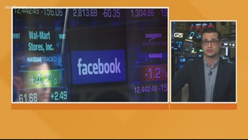 Business Headlines: Dow drops, social media regulation and new car smell