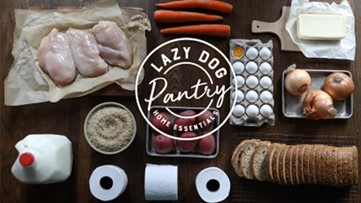 Lazy Dog restaurant offering toilet paper in 'essentials' box, starts buy one, give one program