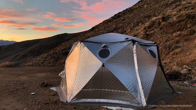 Eastern Sierra Observatory tent