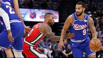 Fox-less Kings beat slumping Trail Blazers 107-99
