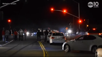 Hundreds watch as 'sideshow' shuts down Fairfield intersection