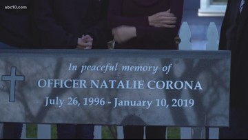 Davis Police Department unveils bench honoring the memory of fallen officer Natalie Corona