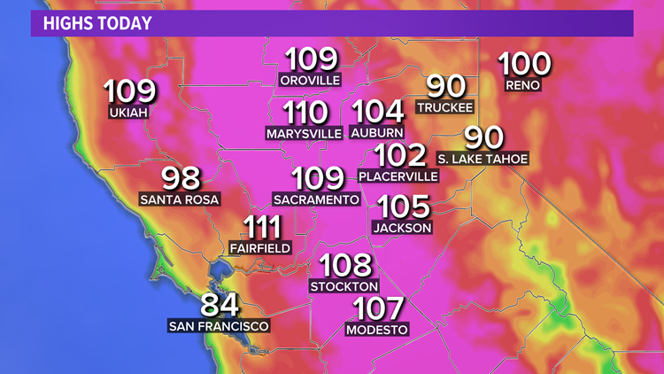 Rare heat wave continues to cause record-breaking heat across Northern California