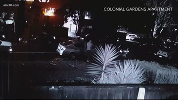 Surveillance video captures multiple vehicle break-ins Rancho Cordova apartment complex