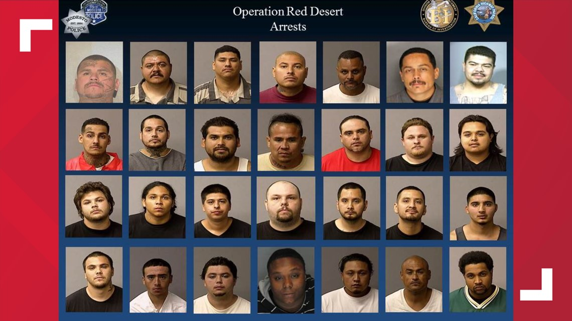 28 people arrested, 21 guns collected in Modesto gang sweep | abc10 com