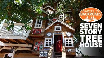 Unusual California roadside stop includes a seven-story tree house   A Bartell's Backroads Pitstop