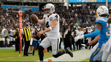 Raiders keep playoff hopes alive with victory over Chargers