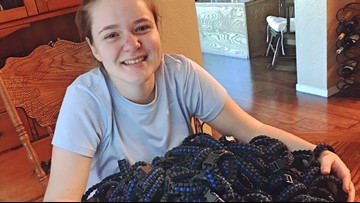 Elk Grove teen creates blue line bracelets to honor fallen Sacramento Officer Tara O'Sullivan