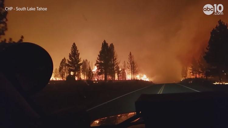Driving through the Tamarack Fire   RAW