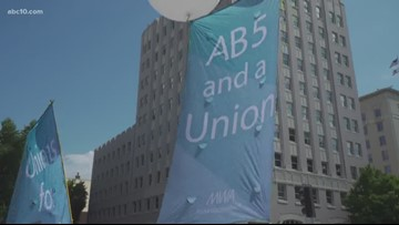 Uber, Lyft drivers rally in Sacramento for AB 5 | Deep Dive