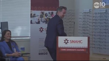 Gov. Newsom talks healthcare and President Trump | SNAHC Press Conference