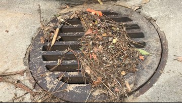 Storm debris overwhelms Stockton storm drainage system, flooding streets