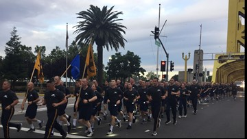 CHP cadets set to graduate run five miles to honor fallen officers