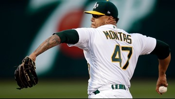 A's pitcher Montas suspended 80 games for drug violation