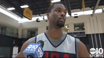 Harrison Barnes on building chemistry with Kings teammate De'Aaron Fox at USA Basketball
