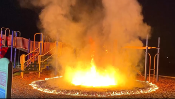 'Why mess with the kids?' | Arsonist torches playground at Fairfield elementary school