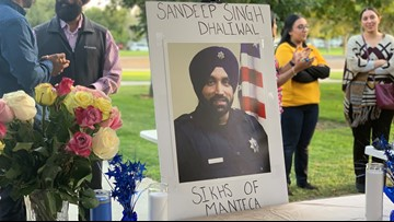 Manteca community holds vigil for murdered Sikh deputy sheriff in Houston