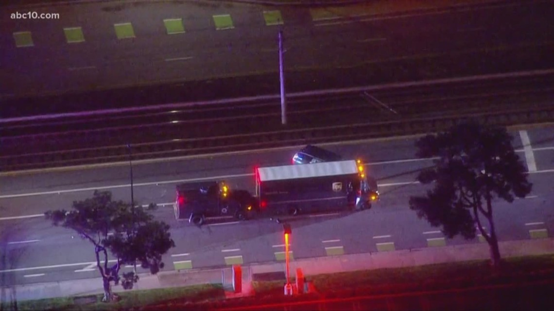 5118a902aec03 Suspect who hijacked UPS truck in San Jose shot
