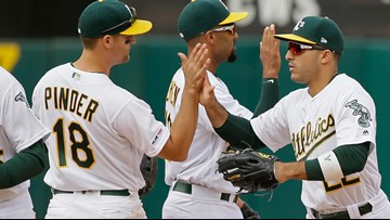 Laureano nails another Red Sox runner, Athletics win 7-3