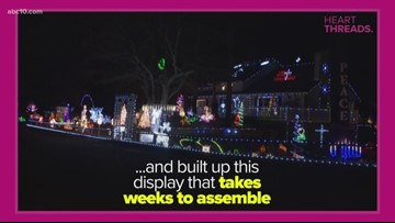 Heart Threads: Family continues Xmas lights tradition despite heartbreak