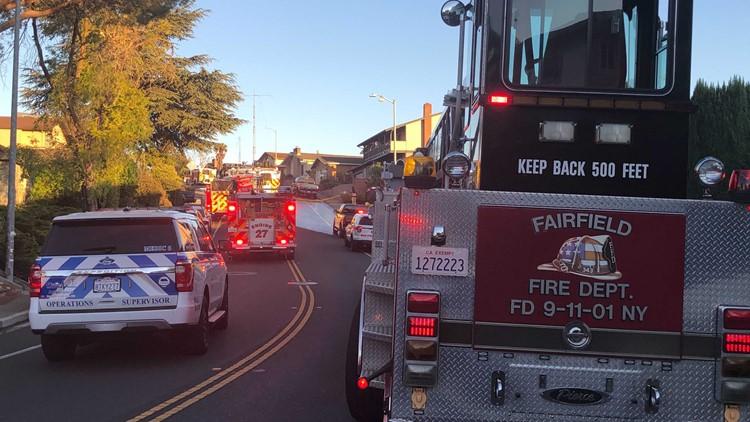 Crews battle vegetation fire in Fairfield