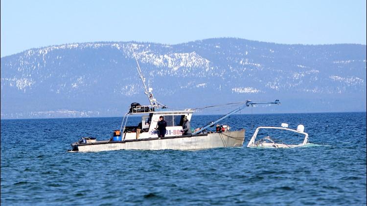 EPA removes sunken, oil-leaking boat from Lake Tahoe