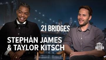 21 Bridges: Stephan James & Taylor Kitsch Interview   Extra Butter